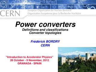 Power converters Definitions and classifications Converter topologies