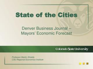 State of the Cities