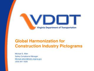 Global Harmonization for Construction  Industry Pictograms