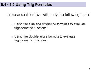 double angle formulae and solving trig equations