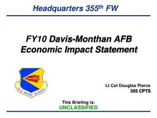 FY10  Davis- Monthan  AFB Economic Impact Statement