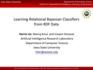 Learning Relational Bayesian Classifiers from RDF Data