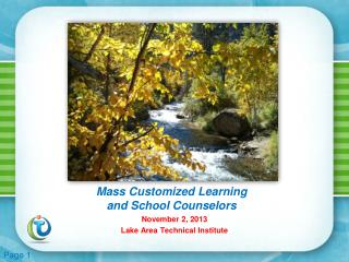 Mass Customized Learning  and School Counselors