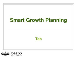 Smart Growth Planning
