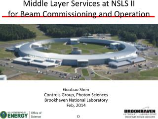 Middle Layer Services at NSLS II  for Beam Commissioning and Operation