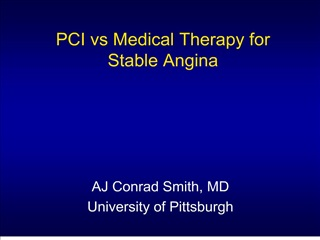 pci vs medical therapy for stable angina