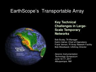 EarthScope's   Transportable Array