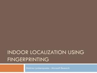 indoor localization Using fingerprinting