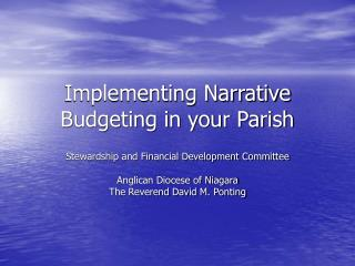 Implementing Narrative Budgeting in your Parish