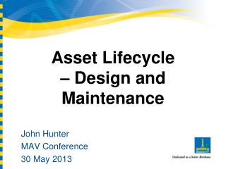 Asset Lifecycle – Design and Maintenance