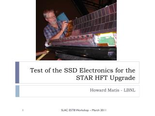 Test of the SSD Electronics  for the  STAR HFT Upgrade