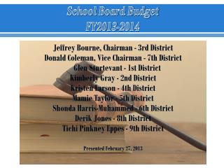 School Board Budget FY2013-2014