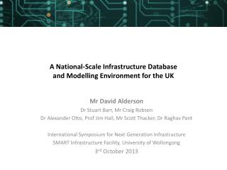 A National-Scale Infrastructure Database and Modelling Environment for the UK