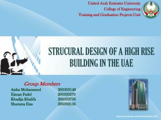 STRUCURAL DESIGN OF A HIGH RISE BUILDING IN THE UAE