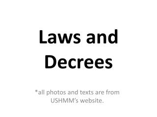 Laws and Decrees