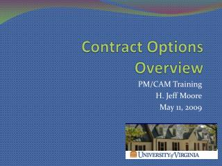 Contract Options Overview