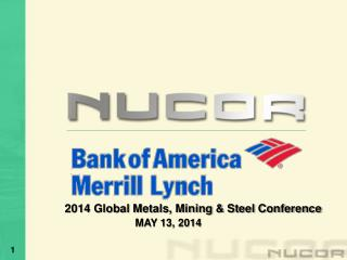 2014 Global Metals, Mining & Steel Conference MAY 13, 2014