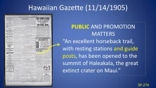 Hawaiian Gazette (11/14/1905)
