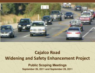 Public Scoping Meetings September 26, 2011 and September 29, 2011