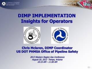 DIMP IMPLEMENTATION Insights for Operators