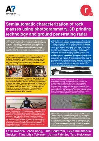 Semiautomatic characterization of rock masses using  photogrammetry , 3D printing technology and ground penetrating rad