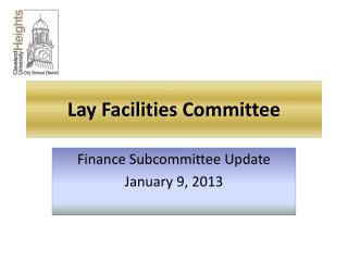Lay Facilities Committee