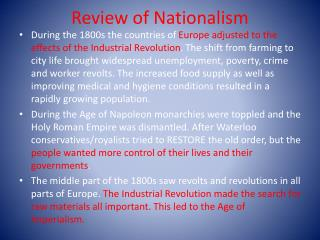 Review of Nationalism