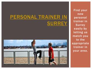 Personal Trainer Surrey