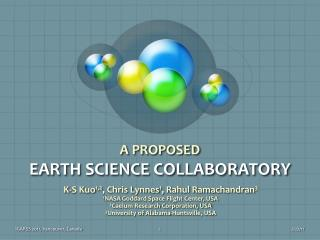 A PROPOSED  EARTH SCIENCE COLLABORATORY