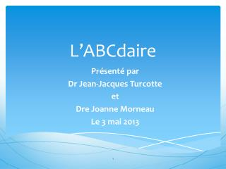 L'ABCdaire