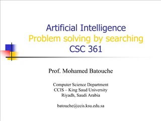 artificial intelligence problem solving by searching csc 361