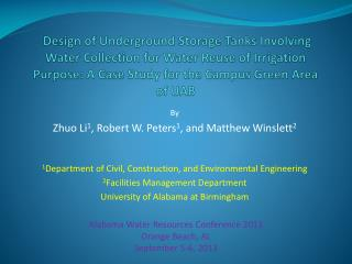 Design of Underground Storage Tanks Involving Water Collection for Water Reuse of Irrigation  Purpose: A  Case Study for