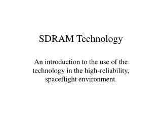 SDRAM Technology