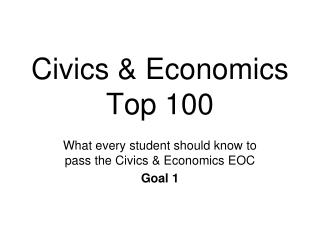 Civics & Economics  Top 100