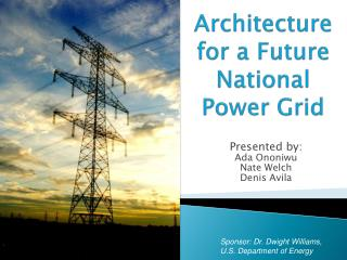 Architecture for a Future  National  Power Grid