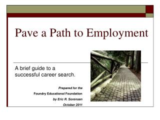 Pave a Path to Employment