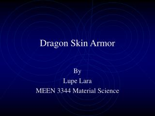 Dragon Skin Armor
