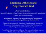 emotional atheism and  anger toward god