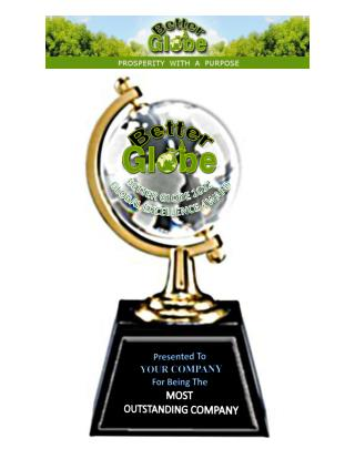 Presented To YOUR COMPANY For Being The MOST OUTSTANDING COMPANY