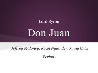 Lord Byron Don Juan