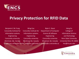 Privacy Protection for RFID Data