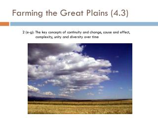Farming the Great Plains (4.3)