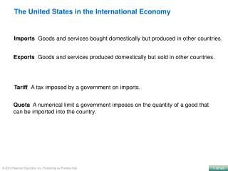 The United States in the International Economy