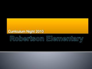 Curriculum Night 2010