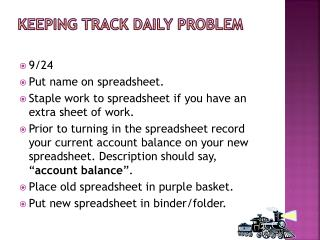 Keeping Track Daily Problem
