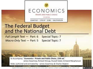 The Federal Budget  and the National Debt