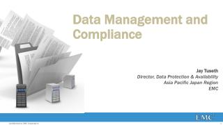 Data Management and Compliance