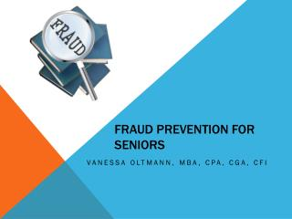 Fraud Prevention for Seniors