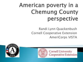 American poverty in a Chemung County perspective