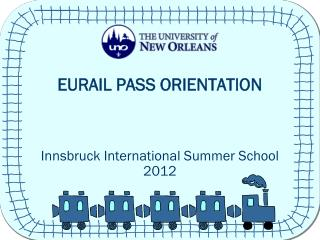 EURAIL PASS ORIENTATION